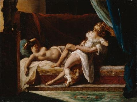 ['Three Lovers, About 1817 - 1820 By Theodore Gericault' Oil Painting, 10x13 Inch / 25x34 Cm ,printed On Perfect Effect Canvas ,this Amazing Art Decorative Canvas Prints Is Perfectly Suitalbe For Kitchen Decor And Home Decor And] (Theatre Costume Closet)