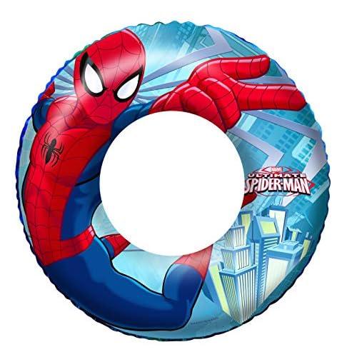 51FSC%2BMzYPL. SS500 Divertido diseño en colores llamativos con dibujos de Spiderman Está fabricada con vinilo resistente probado Indicado para llevar a las excursiones a la piscina o a la playa