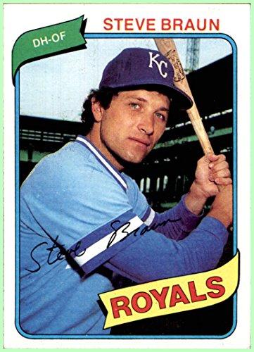 - 1980 Topps #9 Steve Braun KANSAS CITY ROYALS EXMT+