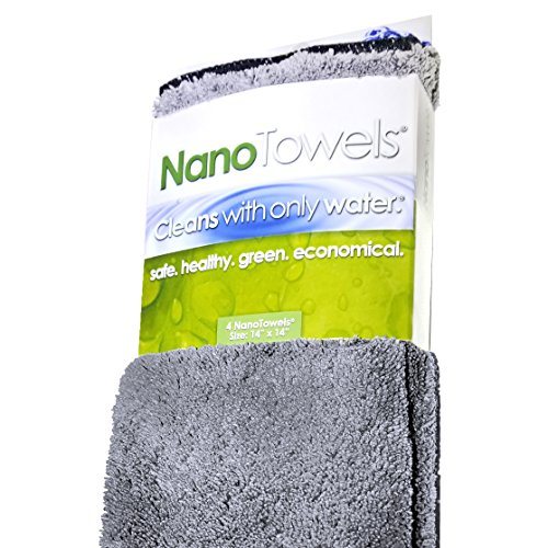 Life Miracle Nano Towels - Amazing Eco Fabric That Cleans Virtually Any Surface with Only Water. No More Paper Towels Or Toxic Chemicals. (Grey)
