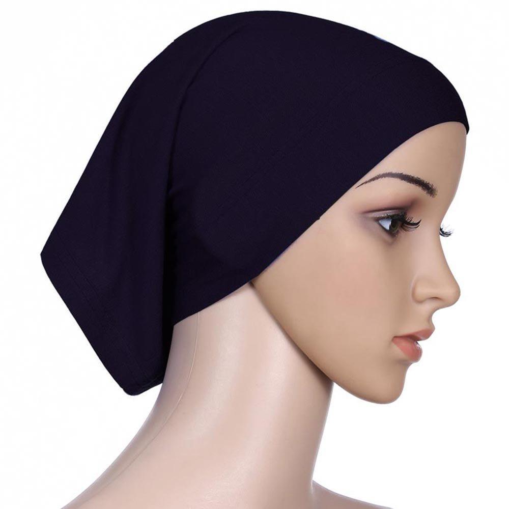 ギルロイIslamicイスラム教徒レディースコットンヘッドScraf HijabカバーUpキャップ B01I1BJHF8 One Size ブラック ブラック One Size