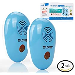 Lotee Ultrasonic Pest Repeller for Repelling Rodent and Insect - Electronic Pest Repellent Products for Home Indoor, Best Pest Control Ultrasonic Mouse Repellent Device, Set of 2