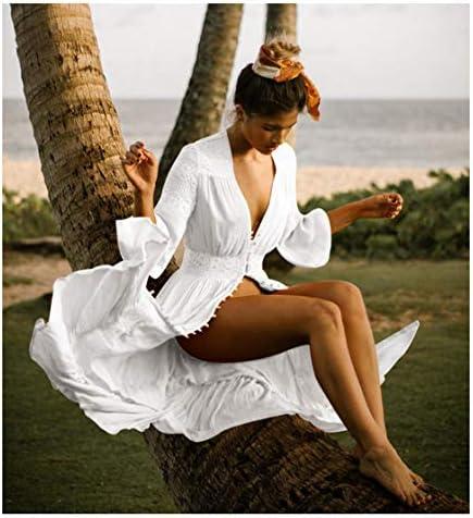 Wander Agio Womens Bikini Cover Ups Beach Casual Dress Coverup Swimsuits Long Cardigan