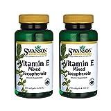 Swanson Vitamin E Mixed Tocopherols 200 Iu (134 Milligrams) 250 Sgels (2 Pack)
