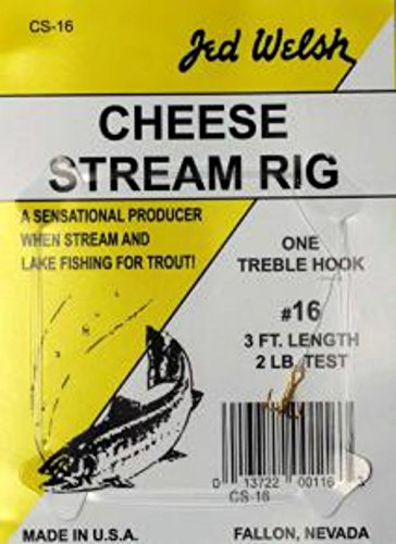 Jed Welsh Fishing Cheese Stream Rig Hook, 20