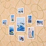 ZYANZ Irregular White Pine Combo Photo Frame, Rectangle (9 Packs)