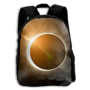 Beautiful Solar Eclipse 2017 Kid Boys Girls Toddler Pre School Backpack Bags Lightweight