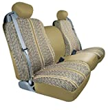 Saddleman Custom Made Front Bench / Backrest Seat Cover - Saddle Blanket Fabric (Tan)