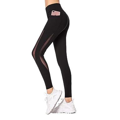 e59794c58 Amazon.com: Dmeixs Yoga Pants High Waist Out Pocket Women Tummy Control Workout  Leggings: Clothing