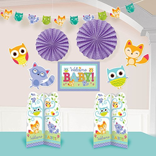 Woodland Creatures  Shower Party  Room Decorating  Kit,