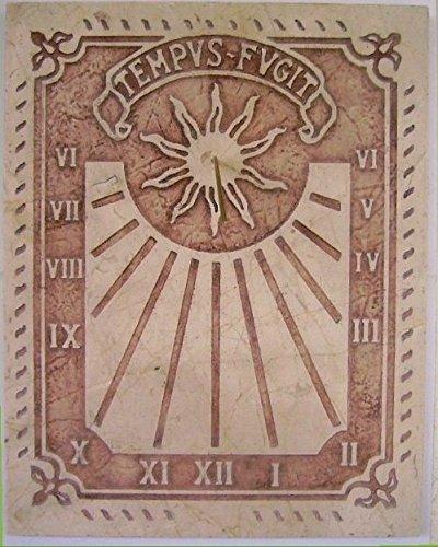 Art-Greus Reloj de Sol en Marmol Crema o sespejeante Estilo Romano: Amazon.es: Hogar