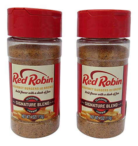 - Red Robin Original Blend Signature Seasoning For Gourmet Burgers and Vegetables, Two 4 Ounce Bottles (8 Ounces Total)