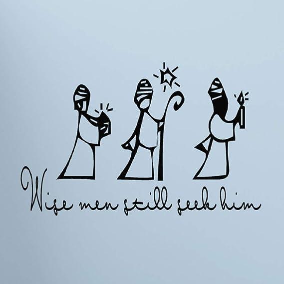 Vinilo Decorativo de Navidad Tres Reyes Magos todavía están Buscando Sus Pegatinas de Pared Pegatinas de Pared decoración del hogar Sala de Estar 111X40cm: Amazon.es: Hogar