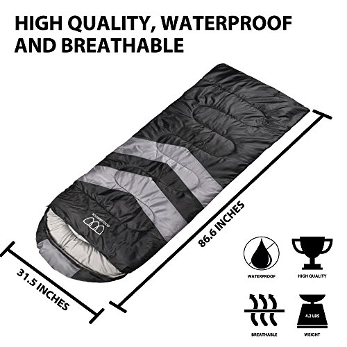 Gold Armour Sleeping Bag Camping Sleeping Bag Lightweight Portable Waterproof Comfortable Compression Sack Great For Traveling Camping Hiking Outdoor Activities For Adults And Kids