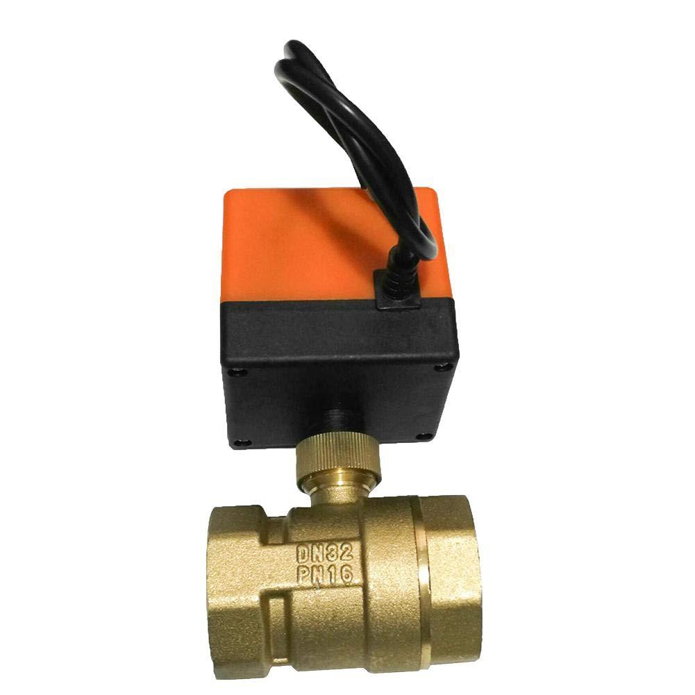 日本未入荷 volflashy DC12V 2制御 3線式 スレッド 2制御 真鍮 スレッド 電動 DN32 ボール バルブ ソレノイド 電動 バルブ B07NWDYDCF DN32, RED ROSE:0481986c --- a0267596.xsph.ru