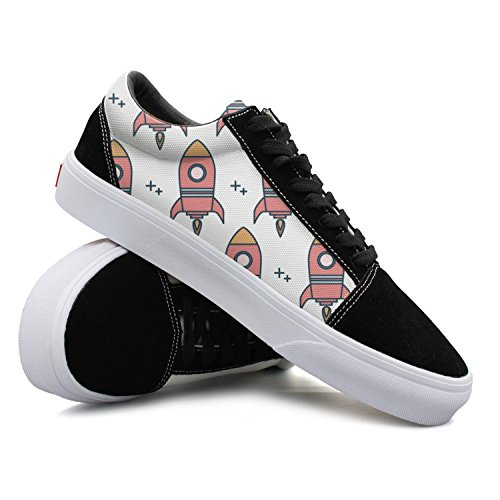 JDYHSGFR Cool Sneakers Starship Rocket Pattern Casual Plate Shoes (Fig Pattern Plate)