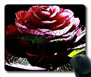 A Cabbage Rose Oblong Shaped Mouse Mat