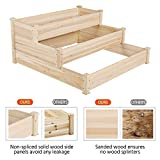YAHEETECH 3 Tier Raised Garden Bed Wooden Elevated