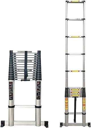 Escalera telescópica Escalera Plegable telescópica 4.6m/5m/5.4m/6.2m/6.6m/7m Extensión telescópica de Aluminio Liviana Escalera Alta Multiusos Escalera Tipo Loft para constructores de viviendas: Amazon.es: Hogar