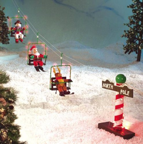 Christmas Village Ski Lift For Sale.Amazon Com Christmas Outdoor Santa Snowman Animated Ski