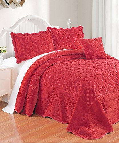 red quilted coverlet - 2