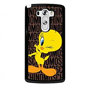 Lg G3 Durable Case,Moschino Caja del teléfono celular Funda,Moschino Milan Brand Classic Tweety Bird Cover for Lg G3