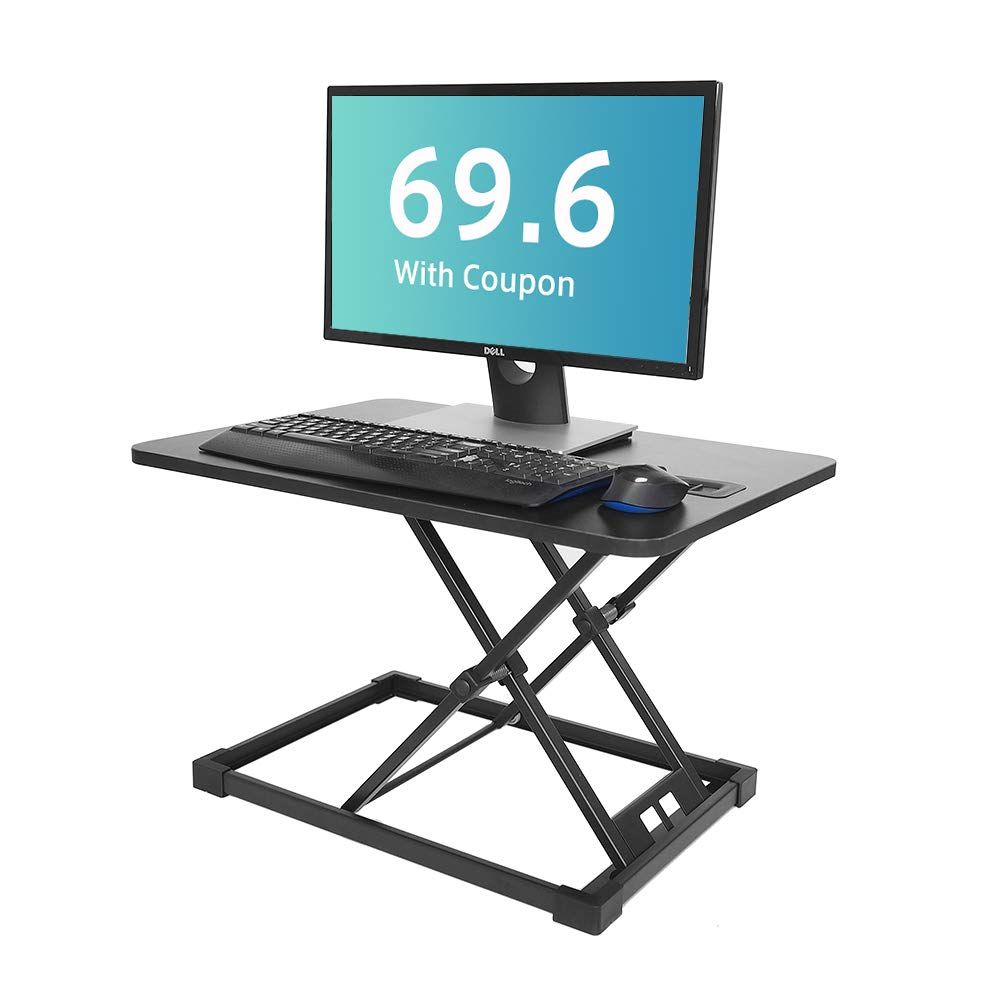 Hippo & Frog Standing Desk Height Adjustable Standing Desk Converter Sit to Stand Desk Riser