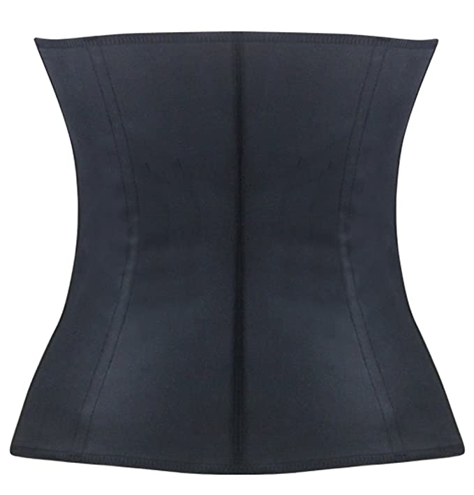 8938d440b6 JerrisApparel Latex Waist Trainer Steel Boned Corset Shapewear Waist Cincher  at Amazon Women s Clothing store