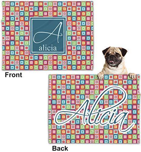 613978af51df Amazon.com: RNK Shops Retro Squares Minky Dog Blanket - Regular  (Personalized): Home & Kitchen