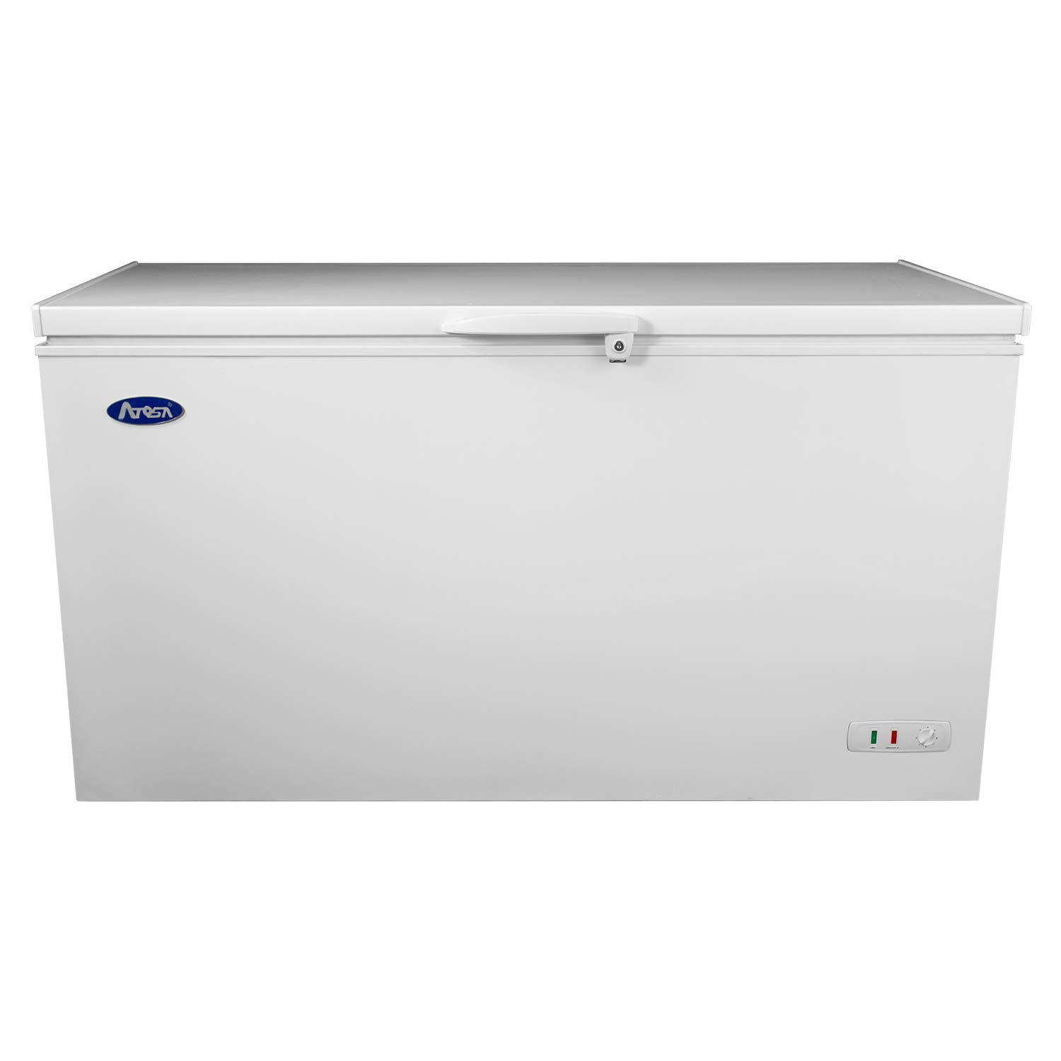 Commercial Top Chest Freezer - Atosa 9.6 Cu. Ft Deep Ice Cream Freezer with Adjustable Thermostat, Lock,Rollers, White(MWF-9010)