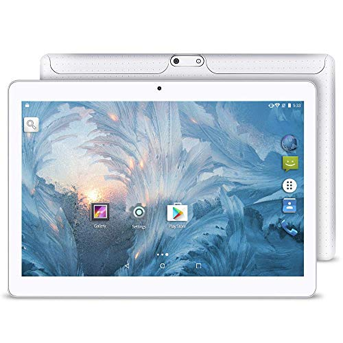 Upgrade - YUNTAB 10.1 inch Android Tablet PC, 2GB RAM 16GB ROM, MTK6580 1.3GHz Quad Core CPU, WiFi/Unlocked 3G Connection, IPS Touch Screen,with Dual SIM Card Slots, Dual Camera (White) (Fire Phone T Mobile)