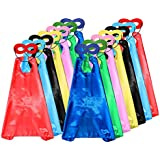 ADJOY Child Superhero Capes and Masks DIY Dress Up Costumes for Birthday Party (14 Capes +14 Masks)