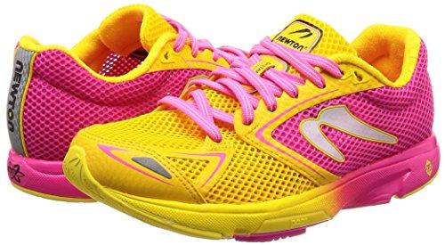 Distance newtonrunning Pink 001 Pink Damen Laufschuhe 7 Yellow 5rF4rq