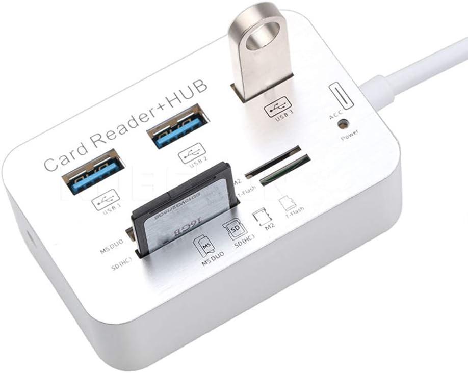 IOIOA USB Charging Plug Intelligent Fast Charging Mobile Phone Memory Card Multifunction Card Reader Hub Computer Hub One to Three High Speed HUBusb3.0 Splitter