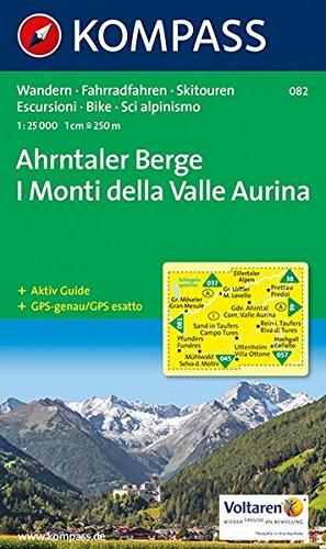 Ahrntaler Berge/I Monti della Valle Aurina: Wandern / Rad / Skitouren. Carta escursioni / bike / sci alpinismo. GPS-genau. 1:25.000