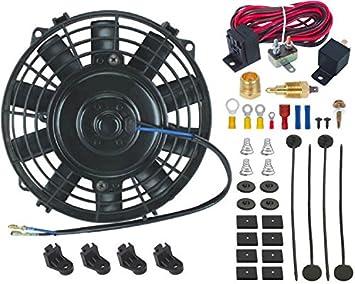 """American V 7 """"inch eléctrico radiador ventilador de refrigeración 3/8"""" Sonda"""