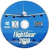 FlightGear Flight Simulator 2020 X Flight Sim Plane & Helicopter Including 600+ Aircraft DVD CD Disc For Microsoft Windows 10
