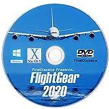 FlightGear Flight Simulator 2020 X Flight Sim Plane & Helicopter Including 500+ Aircraft DVD CD Disc For Microsoft Windows 10 8 7 Vista PC & Mac OS X