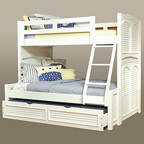 (American Woodcrafters Cottage Traditions Twin over Full Bunk Bed - Eggshell White)