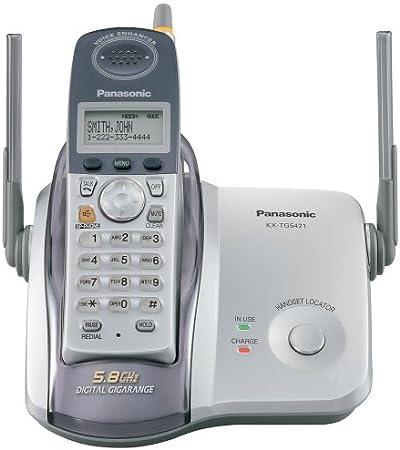 Panasonic kx-tg5421s 5.8 GHz DSS teléfono inalámbrico con identificador de llamadas: Amazon.es: Electrónica