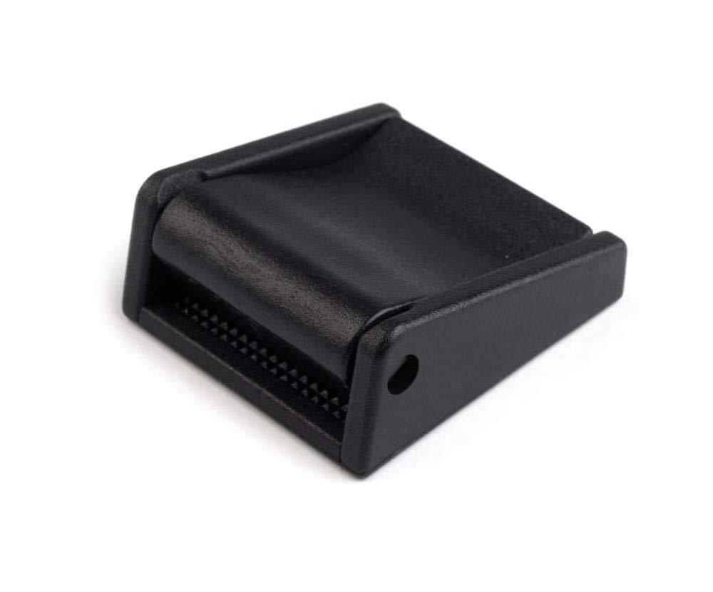 2pc Noire Boucle en Plastique Largeur 25 mm Avec Verrouillage du Bracelet des articles de Mercerie des Pinces Et des Ajusteurs des Accessoires Boucles de D/égagement