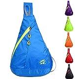 Bonvince Packable Nylon Outdoor Shoulder Backpack Cross Body Bag Sling Pack for Bicycle Sport Hiking Travel Camping Bookbag Blue