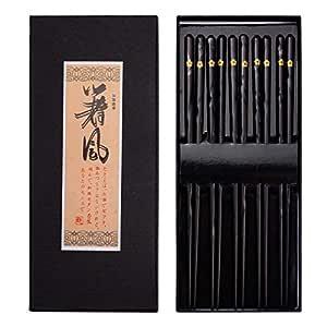 ZITFRI 23 cm con Caja de Regalo Palillos japoneses de Madera para Sushi 5 Pares Aptos para lavavajillas