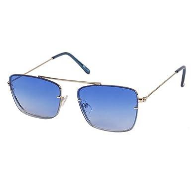 468b5f049a3 Arzonai Dapper Square Shape Silver-Blue Mirrored UV Protection Sunglasses  For Men   Women  MA-2222-S6    Amazon.in  Clothing   Accessories