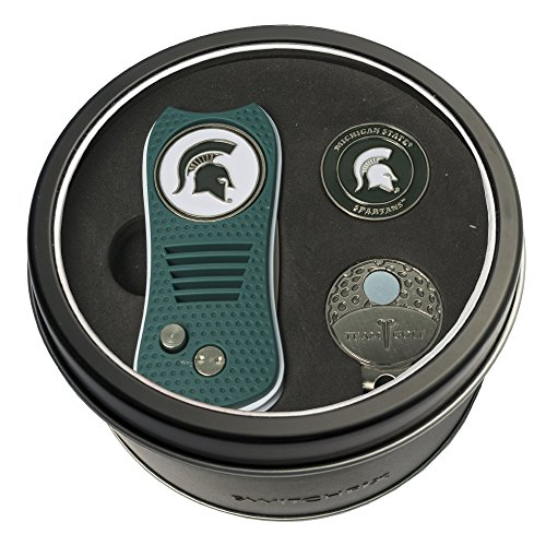 - Team Golf NCAA Michigan State Spartans Gift Set Switchblade Divot Tool, Cap Clip, & 2 Double-Sided Enamel Ball Markers, Patented Design, Less Damage to Greens, Switchblade Mechanism