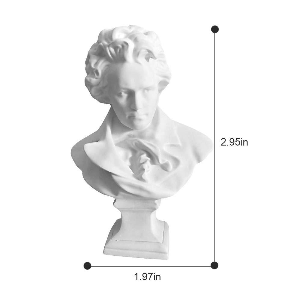 Picaru Beethoven Estatua peque/ña Figuras de Resina para decoraci/ón de Mesa Figura de Arte