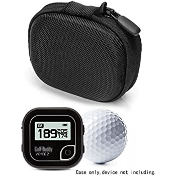 Golf GPS Case by CaseSack, Specially Designed for GolfBudy Voice, Voice 2, Bushnell NeoGhost, Mesh pouches on both lid and base for GPS and cable separatedly (Ballistic Black)
