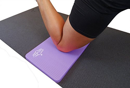 SukhaMat Yoga Knee Pad - NEW! 15mm Thick - The best yoga knee pad for a pain free practice. Cushions pressure points. Complements your full-size yoga mat. Practice in Comfort! (Purple)