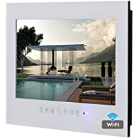 Soulaca 22inch Android Smart White Bathroom Waterproof TV SS220FA-W