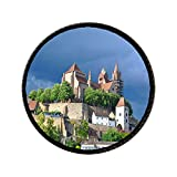GiftJewelryShop Ancient Style Travel Black Forest Germany Gear Lace Flower Round Pin Brooch #16